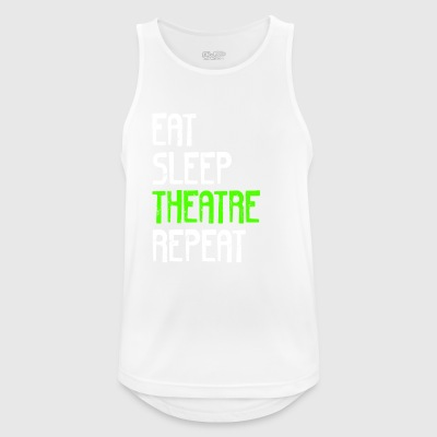 EAT SLEEP REPEAT TEATER - Herre tanktop åndbar