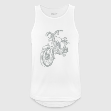 Simson S51 vintage lineart silhouette - Men's Breathable Tank Top