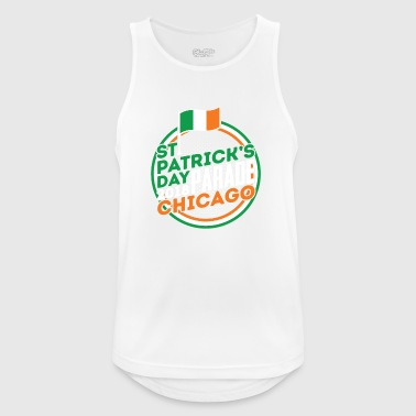 St Patrick Tagesparade Chicago-Flagge 2018 Irland - Männer Tank Top atmungsaktiv