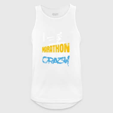 I run marathon gift to burn off the crazy - Men's Breathable Tank Top
