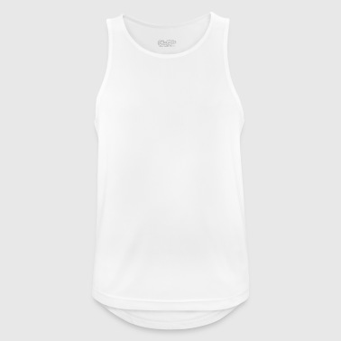 Evolution self-knowledge ran in front of the wall - Men's Breathable Tank Top