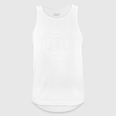 Born in Illinois. Made with Love USA America US - Men's Breathable Tank Top