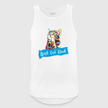 Best Cat Father Cat Papi Cat Pappa T-Shirt - Men's Breathable Tank Top