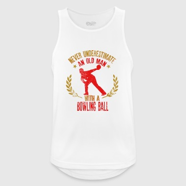 Never Underestimate An Old Man With a Bowling Ball - Men's Breathable Tank Top