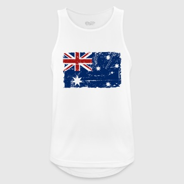 Australien - Down Under - Vintage Look  - Männer Tank Top atmungsaktiv