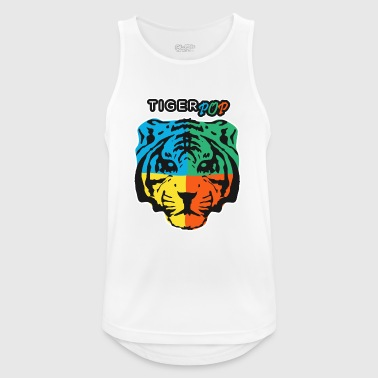 TIGER POP - Pustende singlet for menn
