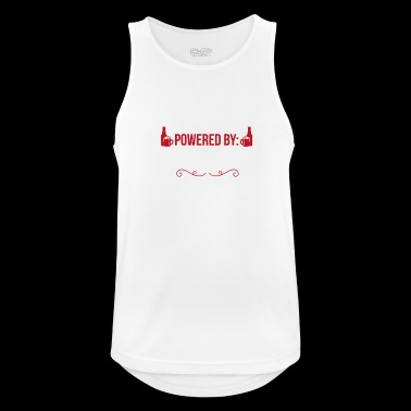 Drevet av Craft Beer Craft Beer gave - Pustende singlet for menn