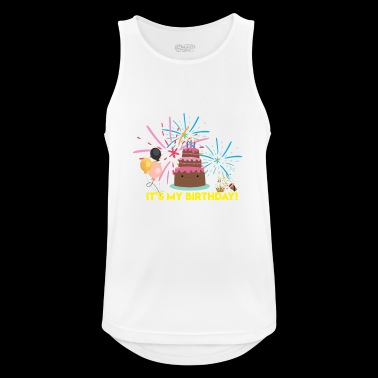 It's My Birthday - Andningsaktiv tanktopp herr