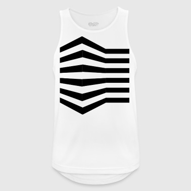 Gitter-T-Shirt (Push-Up-Illusion) - Männer Tank Top atmungsaktiv