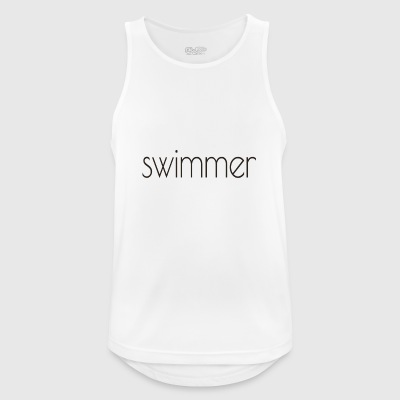 swimmer text - Men's Breathable Tank Top
