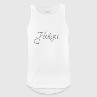 Helga first name silver font - Men's Breathable Tank Top
