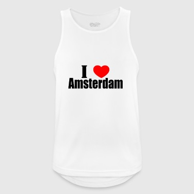 I love amsterdam - Men's Breathable Tank Top