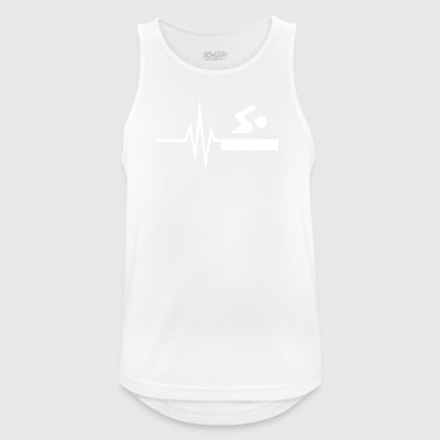 My heart beats for swimming - water sports fit - Men's Breathable Tank Top