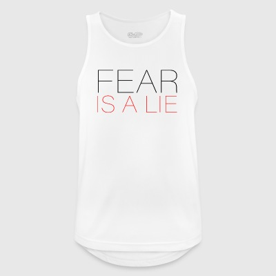 Fear is a Lie - Men's Breathable Tank Top