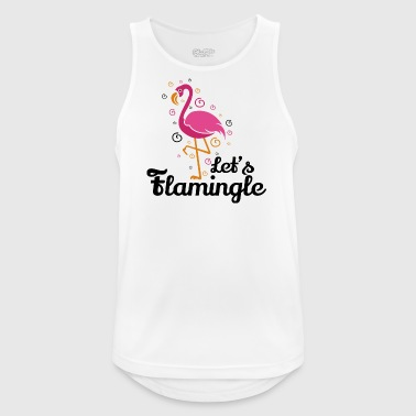Lad os flamingle Funny Flamingo t-shirt gave - Herre tanktop åndbar