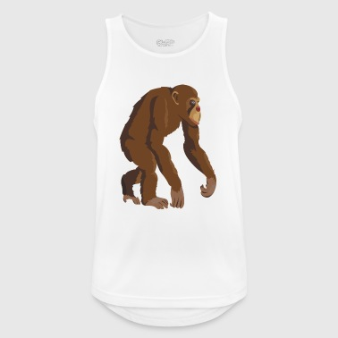 Chimpanzee monkey ape - Men's Breathable Tank Top