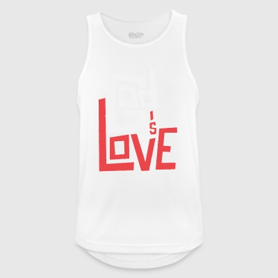 God is Love - Men's Breathable Tank Top