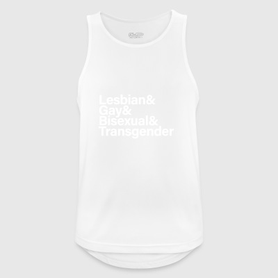 LGBT White - Men's Breathable Tank Top