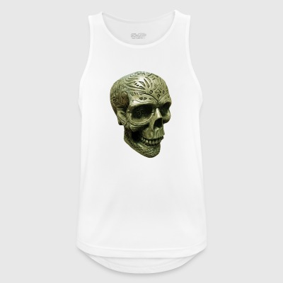 Mystic death's head engraved - Men's Breathable Tank Top