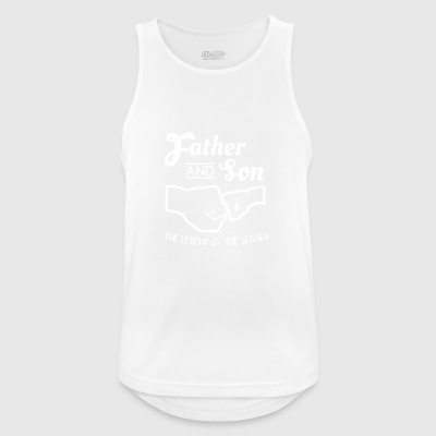Father and Son Gift Father and Son Fists - Men's Breathable Tank Top