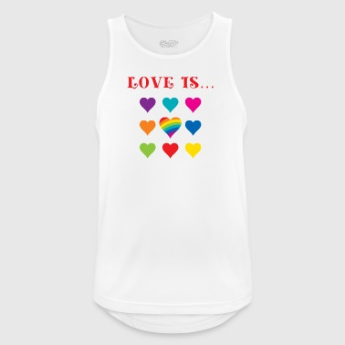 Love is colorful - Men's Breathable Tank Top