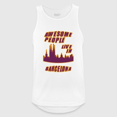 Barcelona Awesome mennesker bor i - Pustende singlet for menn