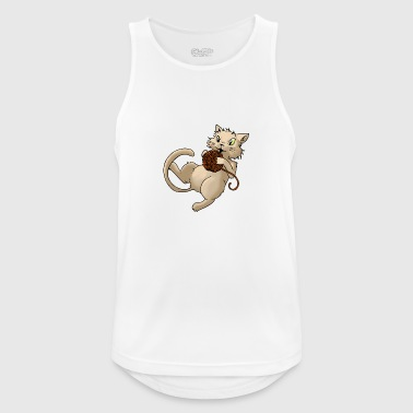 Cat wool ball of wool Kitty Animal Pets - Men's Breathable Tank Top