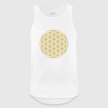 Circles flowers sacred geometry - Men's Breathable Tank Top