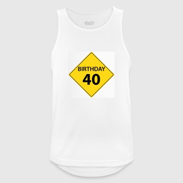 Motive shield birthday 40 40 - Men's Breathable Tank Top