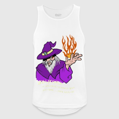 Willpower Wizard Purple / Red / Orange Flame - Men's Breathable Tank Top