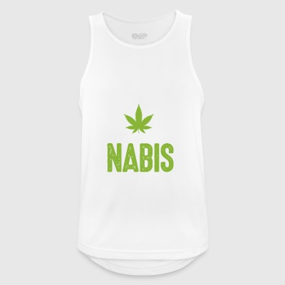 Yes we cannabis marijuana hemp kiffen Legalize it! - Men's Breathable Tank Top