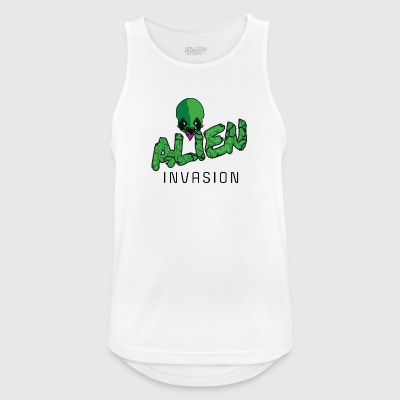 ALIEN Invasion - GREEN - Men's Breathable Tank Top