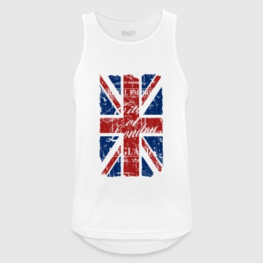 Union Jack - London - Vintage Look  - Canotta da uomo traspirante
