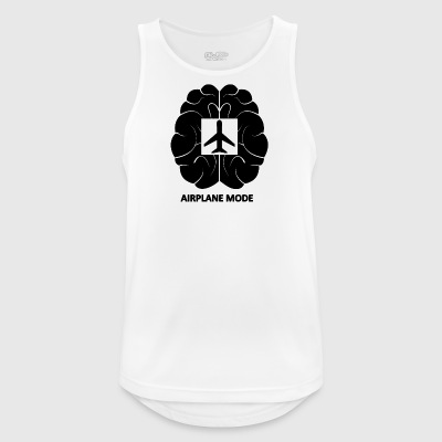 Brainairplanemode blak - Men's Breathable Tank Top