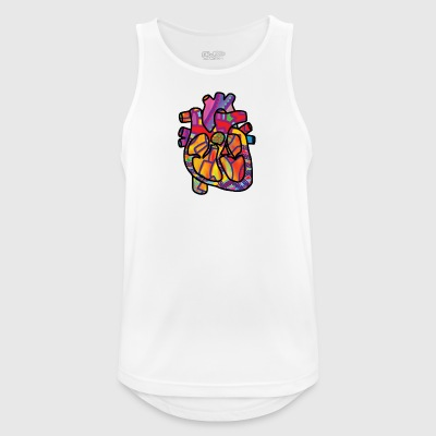 Real Energetic Heart - Men's Breathable Tank Top
