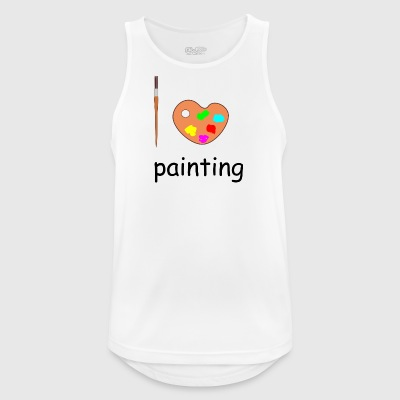 painting - Men's Breathable Tank Top