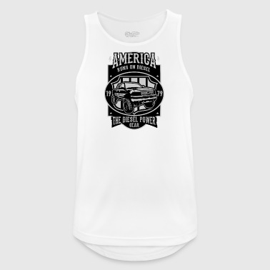 Runs On Diesel2 - Men's Breathable Tank Top