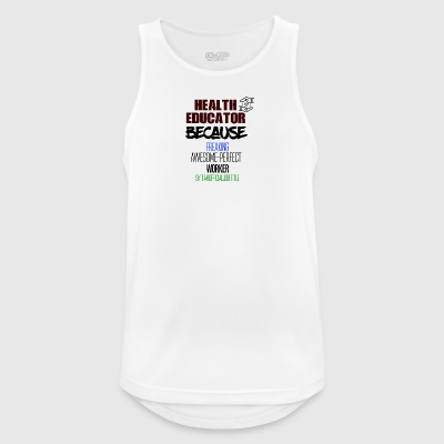 Health educator - Männer Tank Top atmungsaktiv