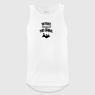 Retired see you at the grave - Men's Breathable Tank Top