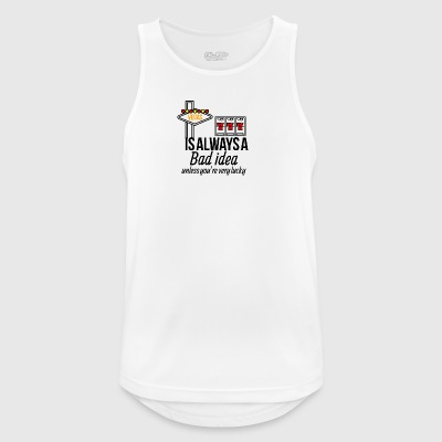 Vegas is always a bad idea - Men's Breathable Tank Top
