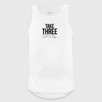 Take three daily - Männer Tank Top atmungsaktiv