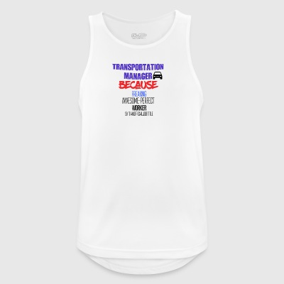 Transportation manager - Men's Breathable Tank Top
