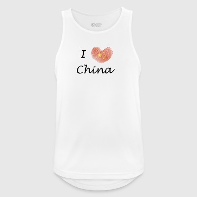Amo a China Amo a China - Camiseta sin mangas hombre transpirable