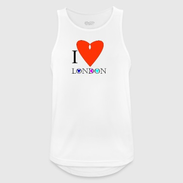I Love London C - Men's Breathable Tank Top