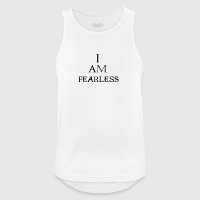 I am fearless B - Men's Breathable Tank Top