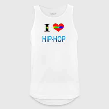 I Love HIP HOP - Pustende singlet for menn