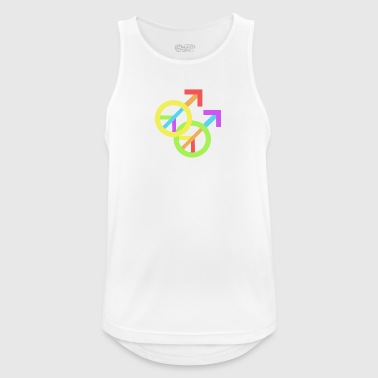 Gay Pride & Peace - Male - Men's Breathable Tank Top