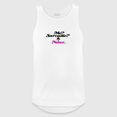 I am never sarcasic - Men's Breathable Tank Top