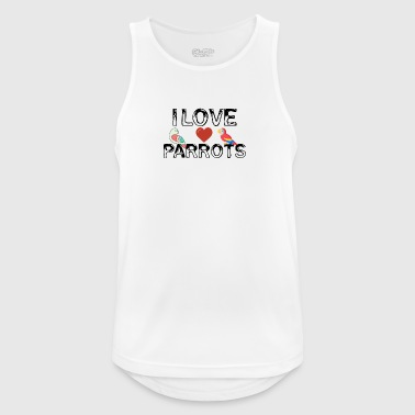 I love parrots - Men's Breathable Tank Top