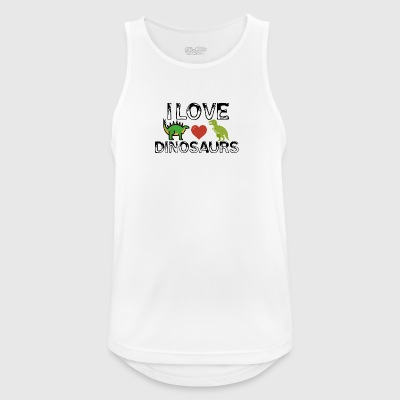 I love dinosaurs - Men's Breathable Tank Top
